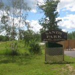 Sands Twp., MI Park Complex - Welcome sign