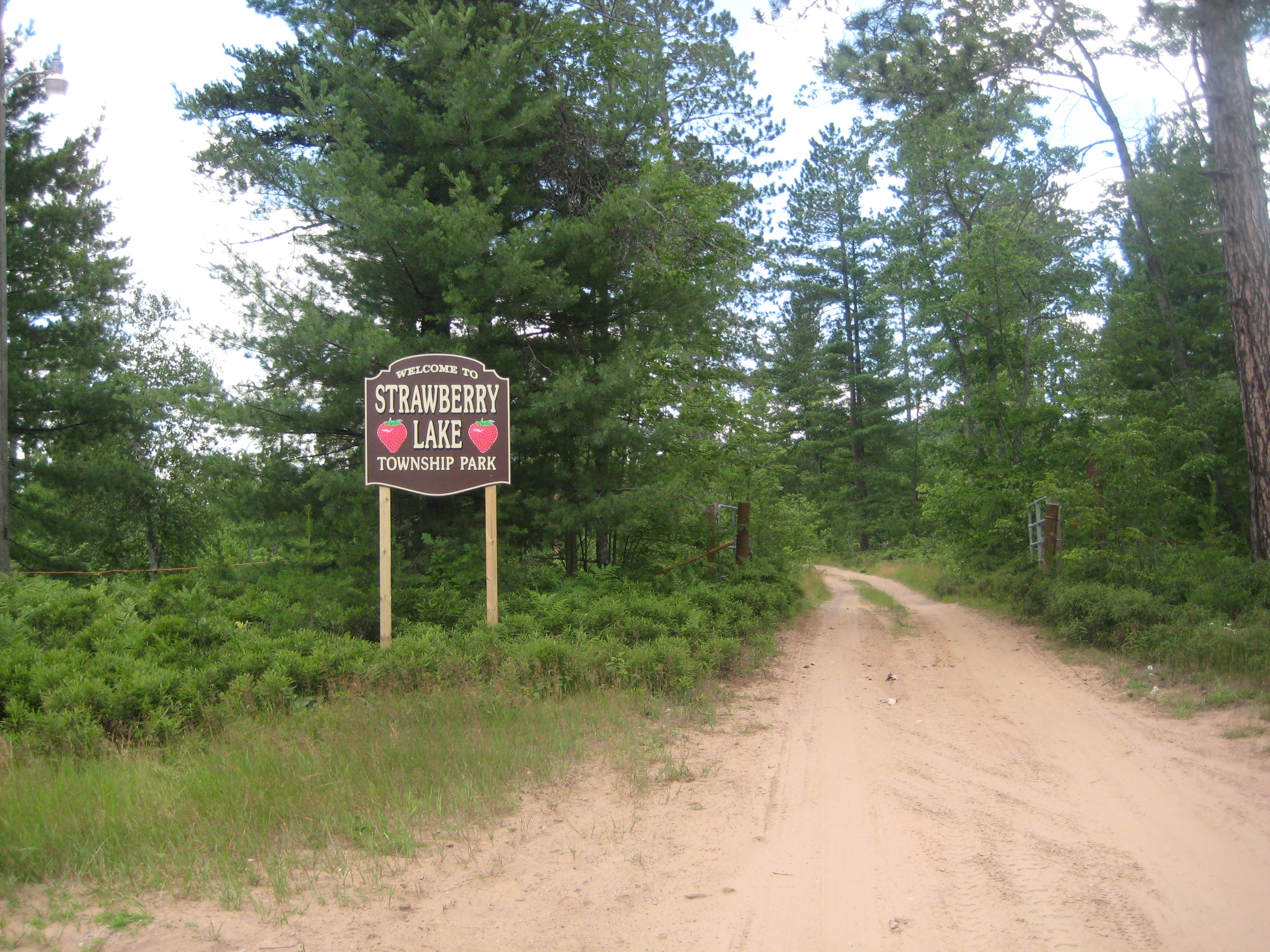Michigan marquette county gwinn - Strawberry Lake Sands Twp Michigan Welcome Sign